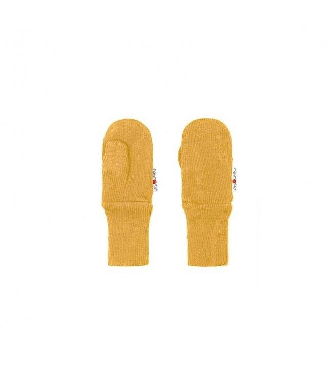 Manymonths Manymonths Woll-Handschuhe (Mittens) - golden oat