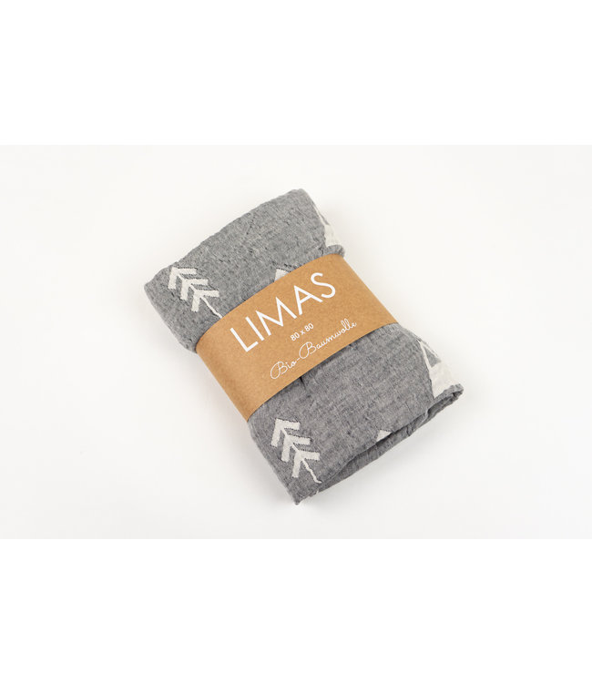 Limas Tissu mousseline LIMAS - Alaska anthracite