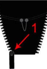 Zip Us In Zip Us In Jackeneinsatz Vislon YKK  5VS Single 65cm