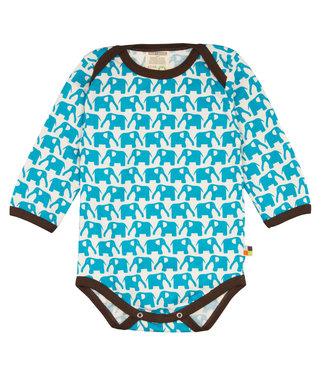 Loud and Proud Loud and Proud - Body langarm - Elefanten - hellblau