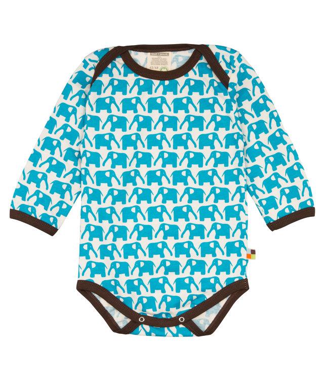 Loud and Proud Loud and Proud - Body à manches longues - Éléphants - bleu clair