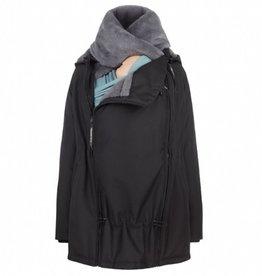 Wombat Tragejacke - Schwangerschaftsjacke - Wombat Wallaby 2.0 - schwarz/grau