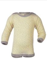 Engel Natur Engel - Baby-Body langarm Wolle/Seide - Druckknöpfe an den Schultern - natur bedruckt