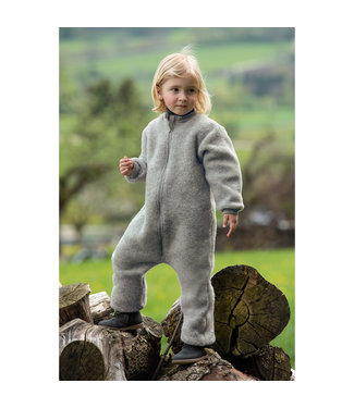 Engel Natur Kinder-Overall mit Reißverschluss - Wollfleece