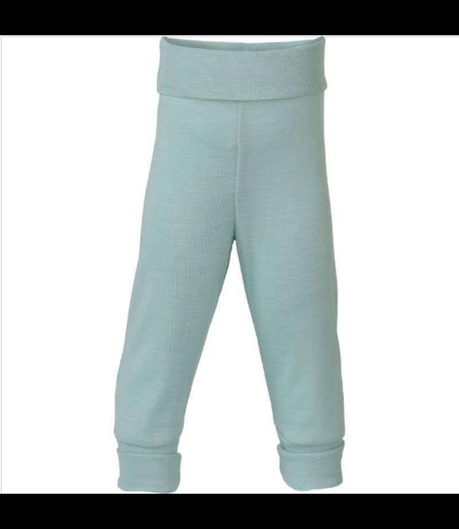 Engel Natur Pantalon bébé long, avec ombilic - laine / soie - glacier
