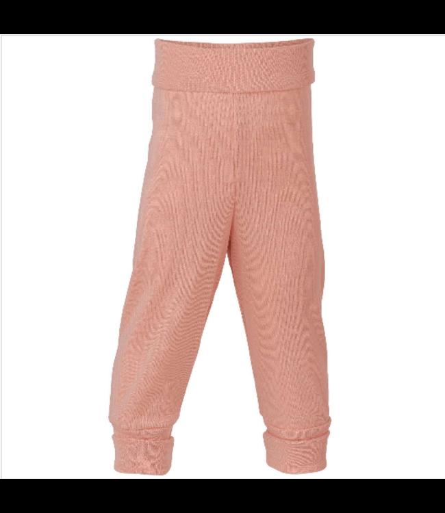 Engel Natur Baby-Hose lang, mit Nabelbund - Wolle/Seide - lachs