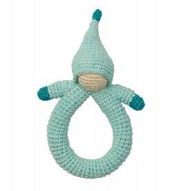 Hoppa Babyspielzeug - Hoppa Rassel doll blue