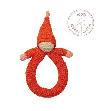 Hoppa Babyspielzeug - Hoppa Rassel doll red