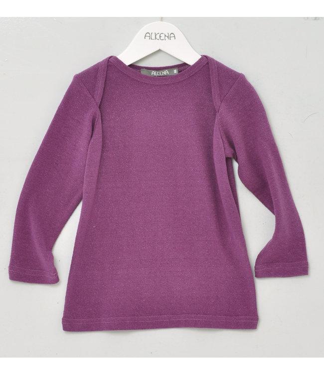 Alkena Alkena - chemise à enfiler - soie bourette - à manches longues - violet