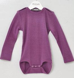 Alkena Alkena - Body langarm violett mit Knöpfen an den Schultern - Bouretteseide