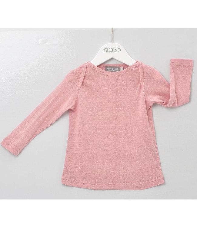 Alkena Alkena - chemise à enfiler - soie bourette - à manches longues - rose