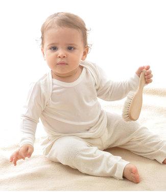 Alkena Alkena - Chemise à manches longues en soie bio pour bébé