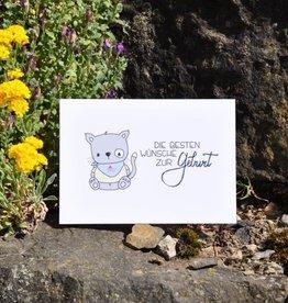 Sandra Künzler Geburtskarte - Die besten Wünsche zur Geburt - Katze