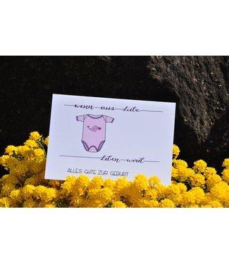 Sandra Künzler Carte de naissance - Quand l'amour devient vie - Body rosé