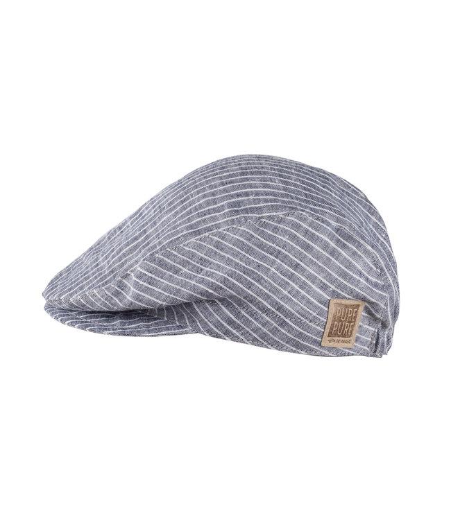 -Pure Pure- by Bauer Chapeau de soleil - mini casquette plate - lin rayé