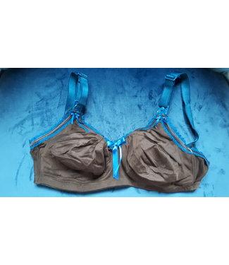 Bravado! Soutien-gorge d'allaitement Lifestyle - marron foncé avec bordure couleur pétrole