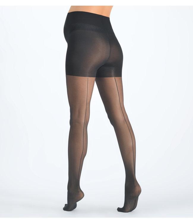 Cache Coeur Cache Coeur - Collant de grossesse 30 DEN - Couture - noir