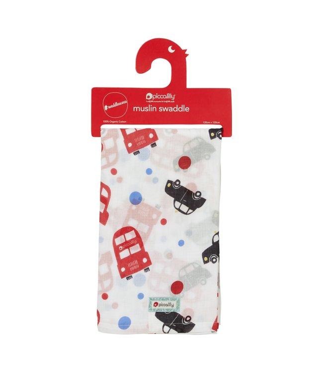 piccalilly piccalilly - couverture en mousseline, serviette à langer/allaitement - London Bus