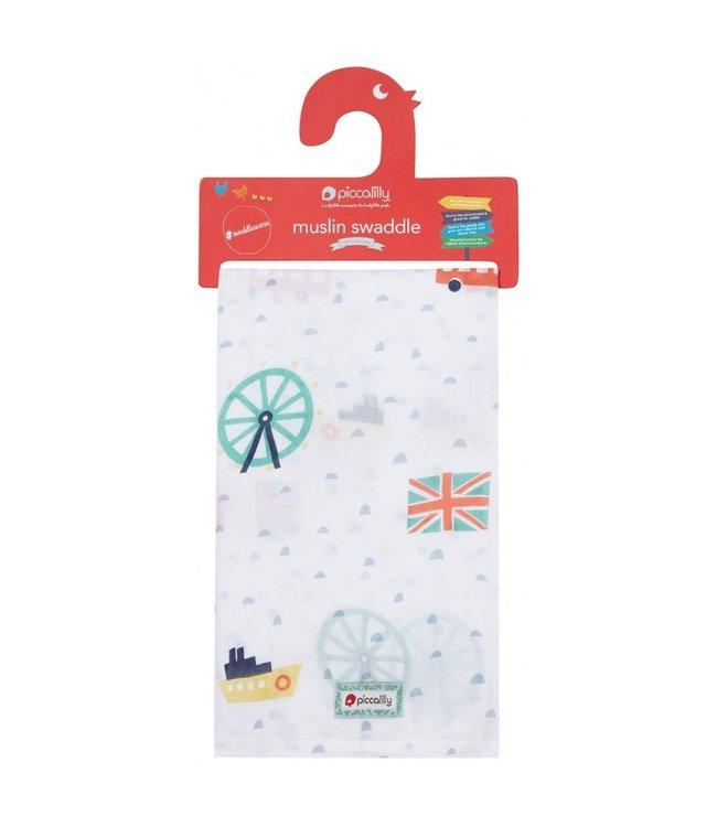 piccalilly piccalilly - couverture en mousseline, serviette à langer/allaitement - London