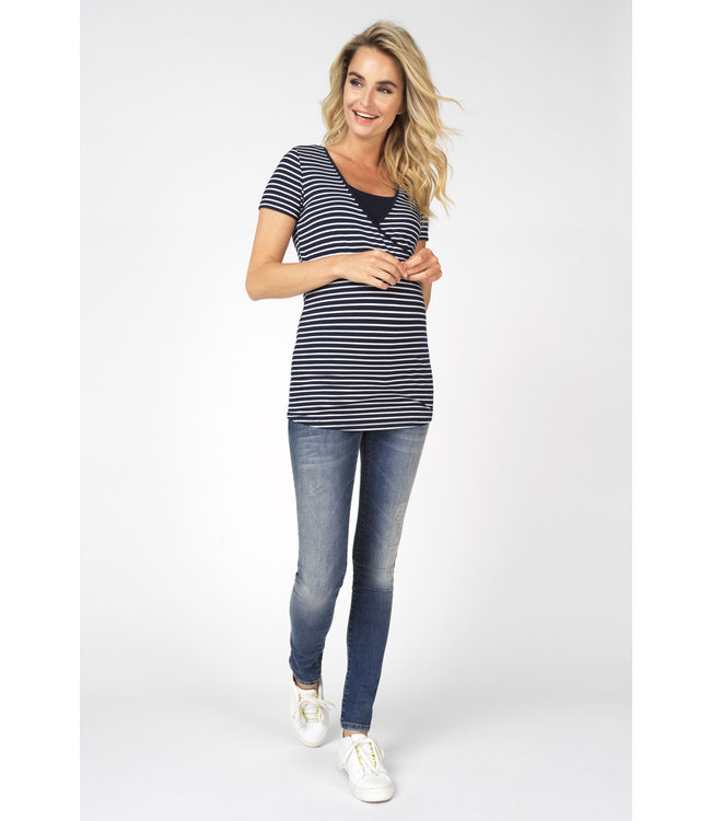 Noppies Noppies - T-Shirt d'allaitement Paris - Night Sky Stripe