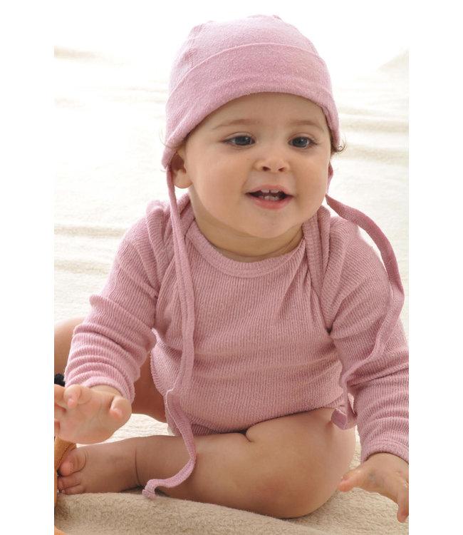 Alkena Alkena - bonnet bébé - soie bourette - rose