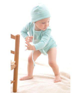 Alkena Alkena - bonnet bébé - soie bourette - aqua