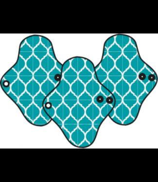 MaM MaM - Ecofit Menstrual Pads - Regular (3 Stück) - Waschbare Binden/Slipeinlagen -  Moroccan Tile