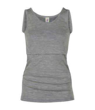 Engel Natur Engel Natur - chemise d'allaitement - laine/soie - gris clair chiné