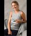 Engel Natur Chemise d'allaitement - laine/soie - gris clair chiné