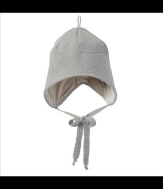 Disana Disana - Walk-Mütze mit Bindebänder - grau