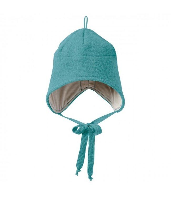 Disana Disana - Walk-Mütze mit Bindebänder - lagoon