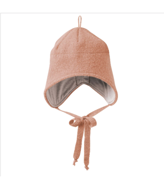 Disana Disana - Walk-Mütze mit Bindebänder - rosé