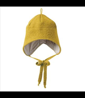 Disana Disana - Walk-Mütze mit Bindebänder - curry
