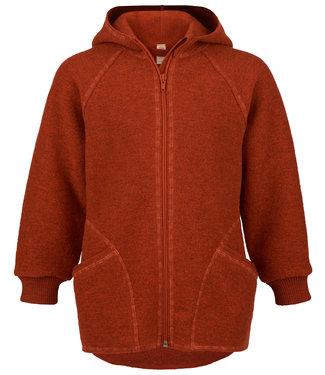 Engel Natur Veste en laine bouillie pour bébés et enfants - avec capuche et fermeture éclair -magma melange