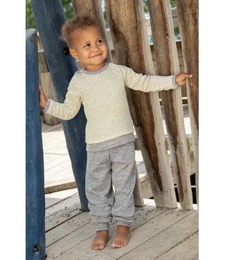 Engel Natur Engel - Baby-Pulli, Wolle/Seide - mit Knöpfen an den Schultern - natur (bedruckt)