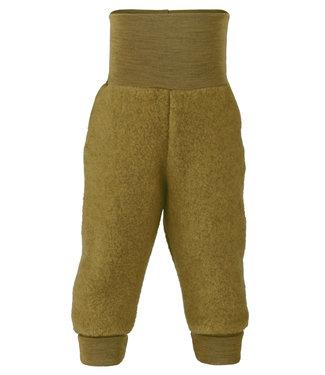 Engel Natur Pantalon bébé long avec bande ombilicale, polaire - safran melange