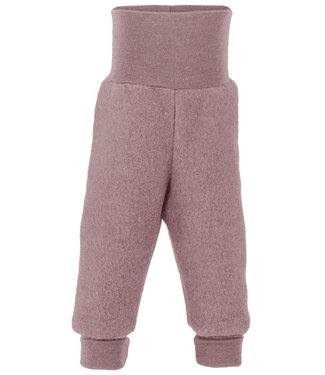 Engel Natur Pantalon bébé long avec bande ombilicale, polaire - bois de rose