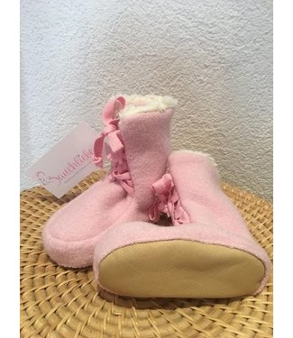 Pure Pure (By Bauer) Pick a Pooh - Booties Walk - Tragestiefel - rosa/Plüsch natur
