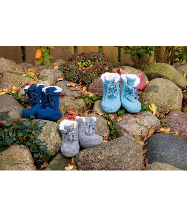 -Pure Pure- by Bauer Pick a Pooh - Booties Walk - bleu marin / peluche nature