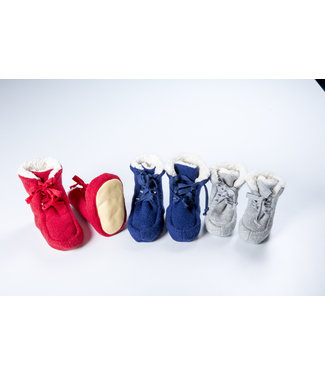 Pure Pure (By Bauer) Pick a Pooh - Booties Walk - marine/Plüsch natur