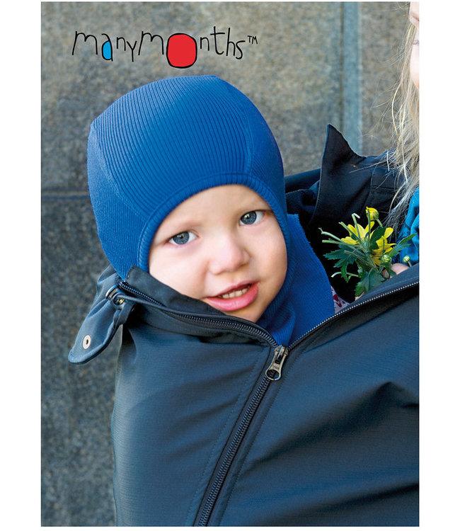 Manymonths Manymonths - Woll-Elefantenmütze - Schlupfmütze - Elephant Hood - Merino - cosmos blue
