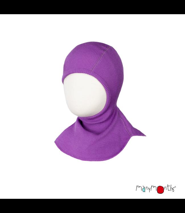 Manymonths Manymonths - chapeau éléphant en laine - chapeau - capuche éléphant - mérinos - Lavender Crystal