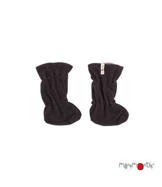Manymonths Manymonths - Stiefel Baby - Woolies Adjustable Winter Booties MaMTec- Merino - Foggy Black