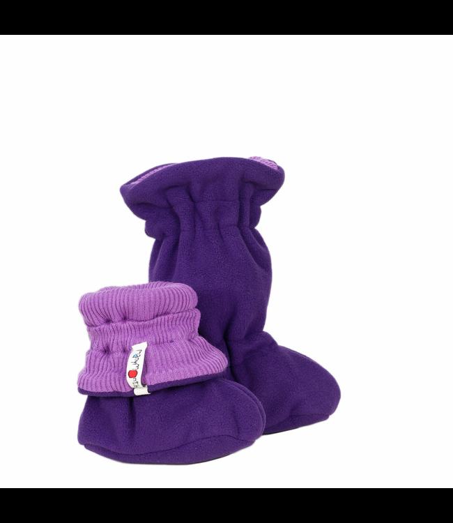 Manymonths Manymonths - Stiefel Baby - Woolies Adjustable Winter Booties MaMTec- Merino - Lavender crystal