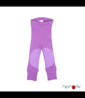 Manymonths Manymonths - Legging en laine avec renfort aux genoux - Patchs genoux - Merino - Cristal lavande