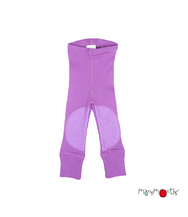 Manymonths Manymonths -  Woll Leggings mit Knieverstärkung - Knee Patches - Merino - Lavender crystal
