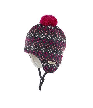 -Pure Pure- by Bauer Pure Pure - bonnet d'hiver chaud - laine/soie - anthracite/rose
