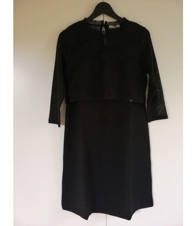 love2wait Love2wait - Robe de grossesse - Robe d'allaitement - Robe en dentelle - Ponte di Roma - noir