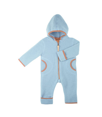 -Pure Pure- by Bauer Pure Pure - Wollfleece Overall - Mini-Overall - dusty blue