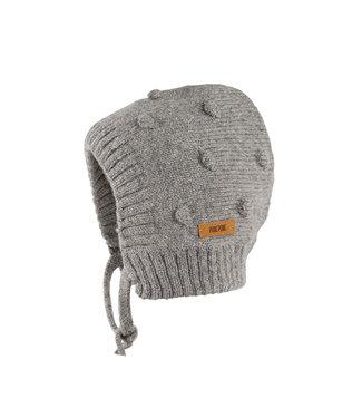 Pure Pure Pure Pure - bonnet tricoté alpaga-laine mérinos mélangée - gris chiné